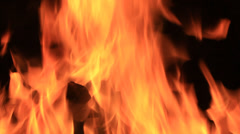 Beautiful real fire flame Stock Footage