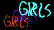 Stock Video Footage of girl girls neon sign sexual