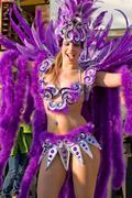 Queen of the Bateria in the Brazilian Carnival - stock photo