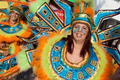 Member of the Ala section of the Brazilian Carnival - stock photo