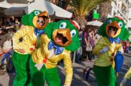 Stock Photo of Disney character Jose Carioca in a Brazilian Carnival parade