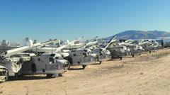 Military Aircraft Boneyard Stock Footage