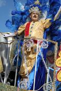 Momo King, the most important male figure in the Brazilian Carnival - stock photo