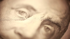 One hundred dollar bill - stock footage