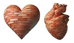 Heart of flint Stock Illustration