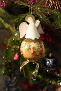 Christmas toy angel - stock photo