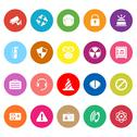 Stock Illustration of safety flat icons on white background