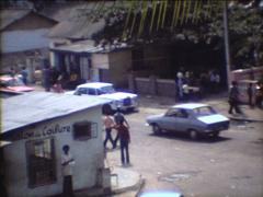 SUPER8 Zaire Congo city street in 1977 Stock Footage