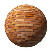 Brick ball isolated Stock Illustration