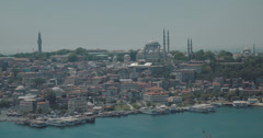 Looking out over Istanbul and the Bosphorus in 4K Stock Footage