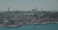 Stock Video Footage of Looking out over Istanbul and the Bosphorus in 4K