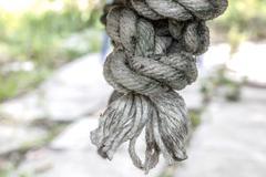 Grunge nylon rope Stock Photos