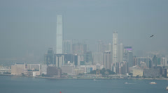 HD video of Kowloon across Hong Kong harbour Stock Footage
