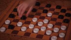 Children play checkers Stock Footage
