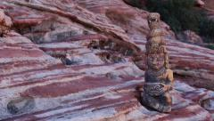 Mayan Serpent Statue Artifact with Panning Action Stock Footage