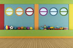 Colorful playroom Stock Illustration
