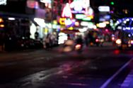 Stock Photo of road of blurry bokeh abstract background.