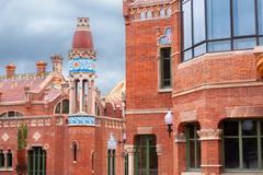 Hospital de la santa creu i de sant pau, barcelona, spain Stock Photos