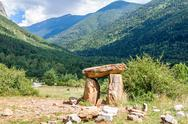 Stock Photo of dolmen in the spanish pyrenees