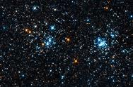 Stock Photo of starfield. a double star cluster in perseus