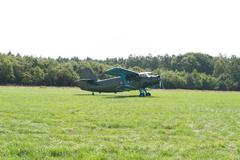 aerobatic biplane - stock photo