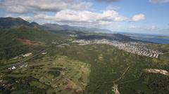 Aerial Shot Kailua area - Oafu Hawaii Stock Footage