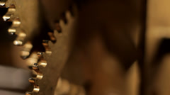 Gears roling mechanical clockwork Stock Footage