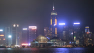 Stock Video Footage of HD video of the Hong Kong convention and exhibition center at night
