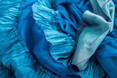 Blue fabric. Stock Photos