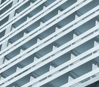 multi-storey hotel fragment - stock photo