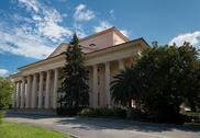 Stock Photo of building with a colonnade. russia, sochi