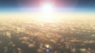 Fly over earth Stock Footage