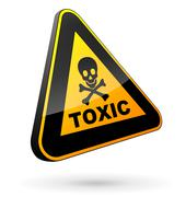 Toxic sign 3d Stock Illustration