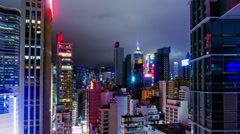 City Night Timelapse.  4K Wide Zoom In Shot. - stock footage