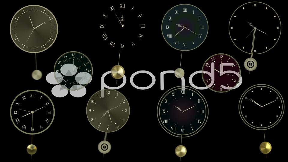 After Effects Project - Pond5 Pendulum clock constructor 34894445