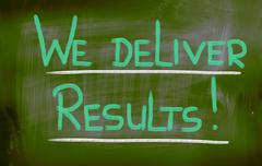 Stock Illustration of we deliver results concept