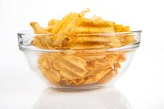 bowl of chips - stock photo