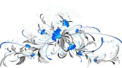 Stock Illustration of Blue flowers.
