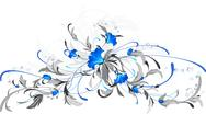 Stock Illustration of Blue flowers.