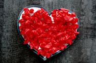 Stock Photo of valentine day red heart love romance passion