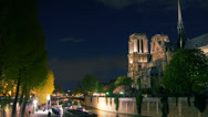 Stock Video Footage of Paris,view of the Notre Dame. .Time lapse, 4k to multimedia