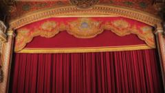 Theater curtain Stock Footage