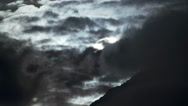 Stock Video Footage of Evil Storm Blackens Sun and Sky over Mountain of Doom Timelapse