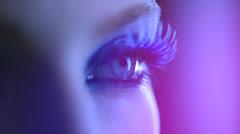 Beauty Woman Eye Makeup Stock Footage