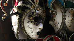 Venice masks (close up) in the wind Stock Footage