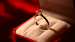 Diamond ring Stock Footage