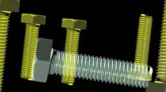 Yellow Screws visual loop 720p Stock Footage
