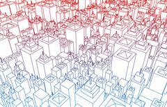 property market - stock illustration