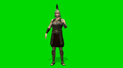 Roman Soldier talk - seperated on green screen Stock Footage