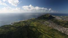 Aerial Shot of Hawaii Kai Area - Oafu Hawaii Stock Footage